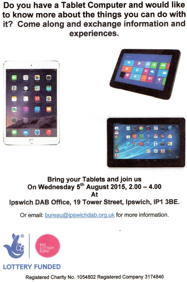 tablet day flyer